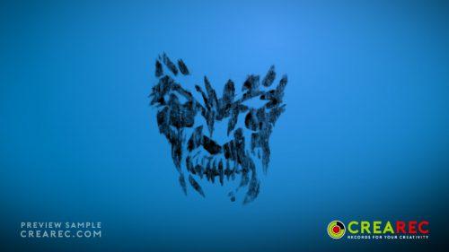 Grunge Figure - 4K stock footage video