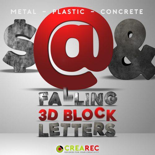 Falling 3D block letters