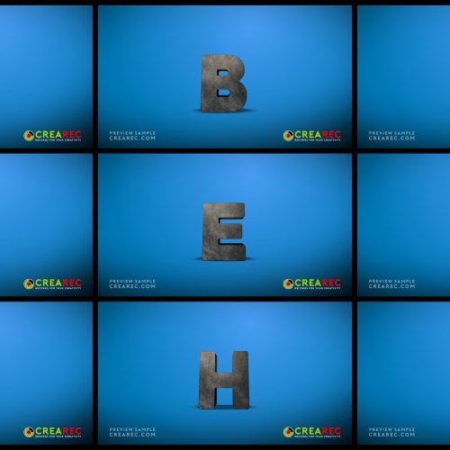 Falling 3D block letters - Concrete 01