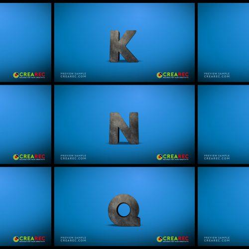 Falling 3D block letters - Concrete 02