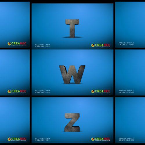 Falling 3D block letters - Concrete 03