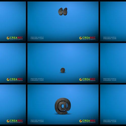 Falling 3D block letters - Concrete 04