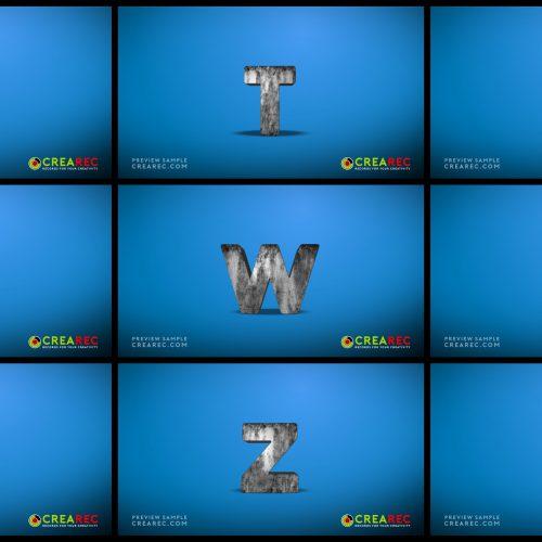 Falling 3D block letters - Metal 03