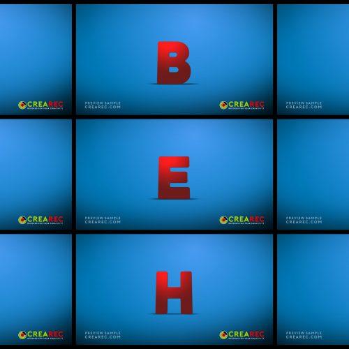 Falling 3D block letters - Plastic 01