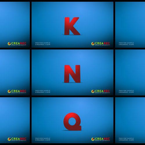 Falling 3D block letters - Plastic 02