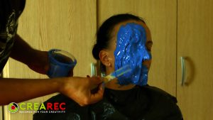 face-casting mold with body double