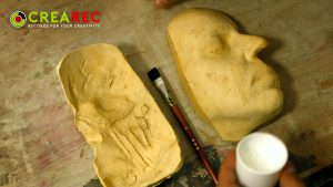 gypsum zombie face model