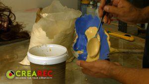 making gypsum head