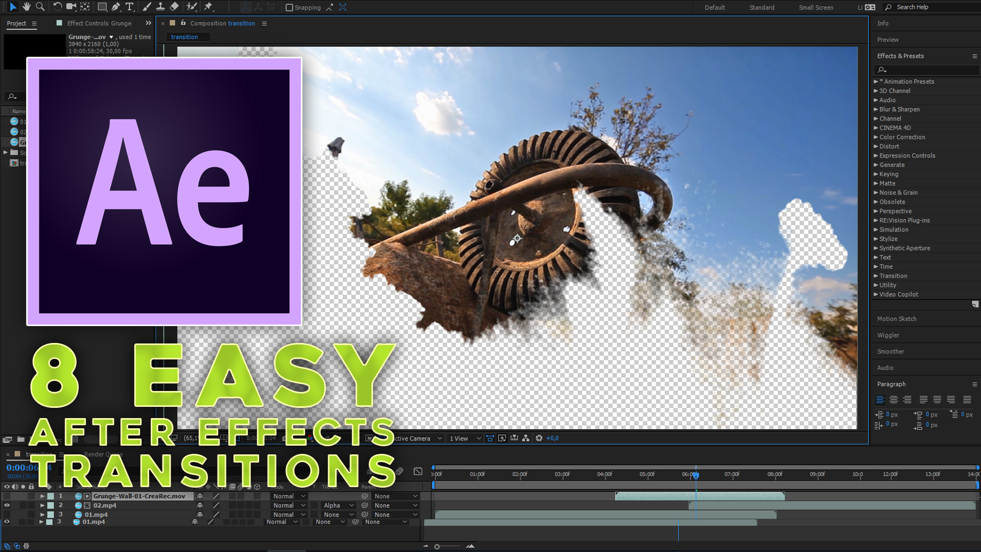 8 easy and spectacular After Effects transitions